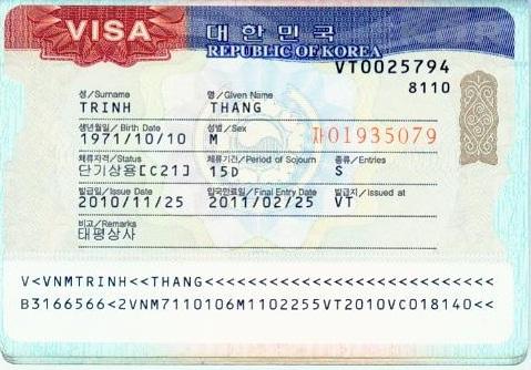 Hướng dẫn thủ tục xin visa du lịch Hàn Quốc tại Hà Nội